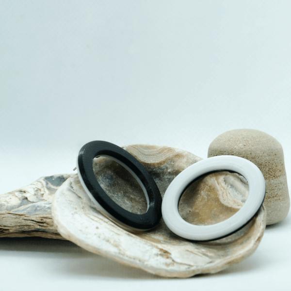 Pendientes RingO Blanco y Negro