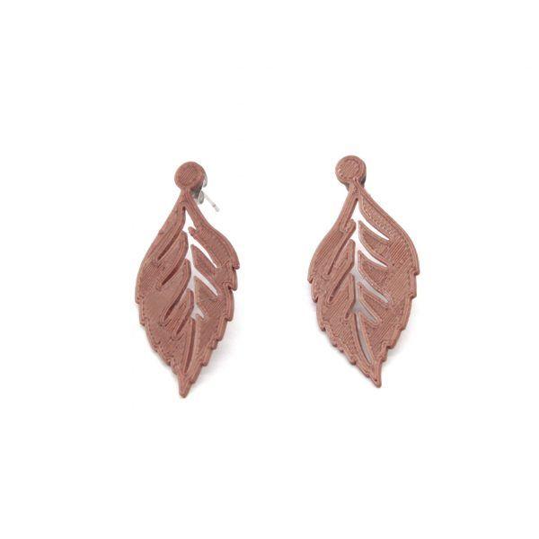 Pendientes Leaf-it Cobre