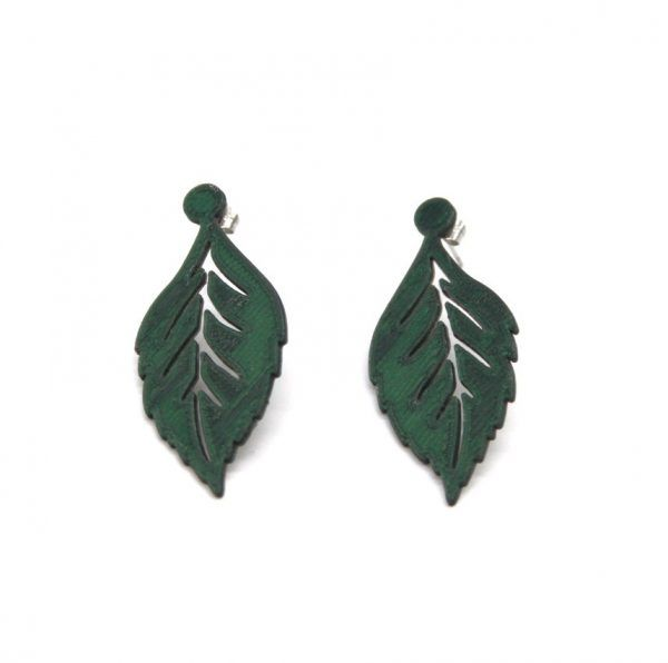Pendientes Leaf-It Verde Pino