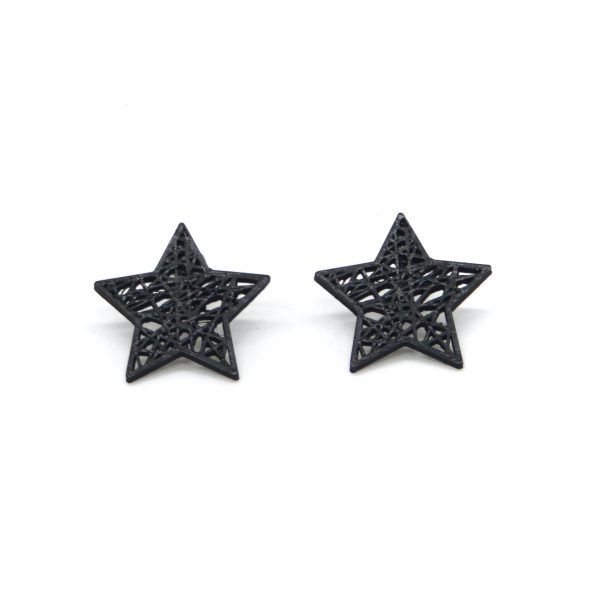 Pendientes Rock Star Negro
