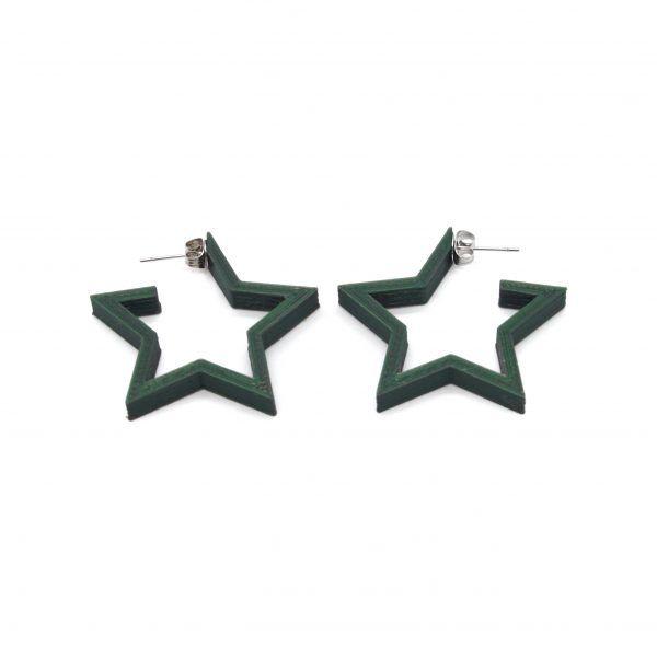 Pendientes Star Guapa Verde Pino