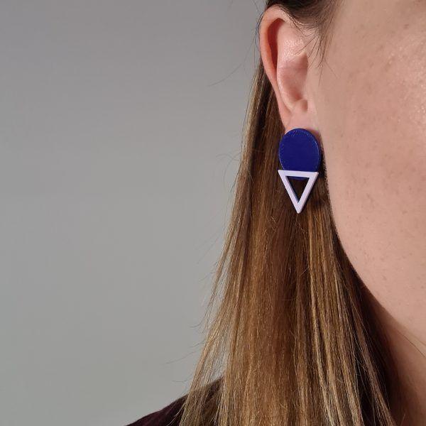 Pendientes Geometrical Feeling Azul
