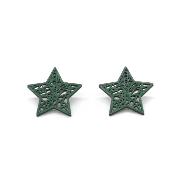 Pendientes Rock Star Verde Pino