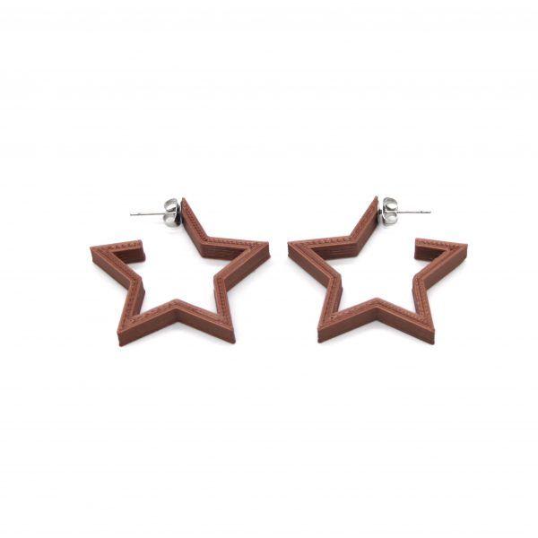 Pendientes Star Guapa Cobre
